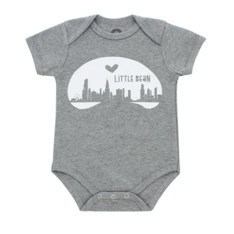 Onesie: Chicago Little Bean - Steel Petal Press