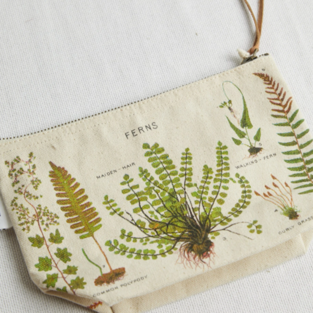 Vintage Ferns Canvas Pouch