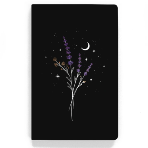 Lavender Layflat Lined Notebook