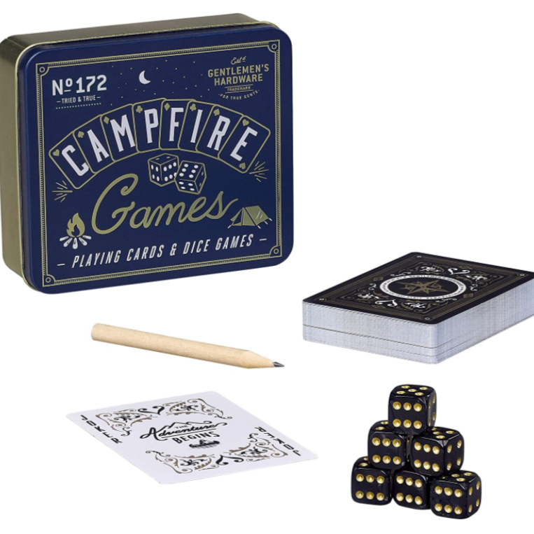 No 172 Campfire Games Playing Cards And Dice Games Tin