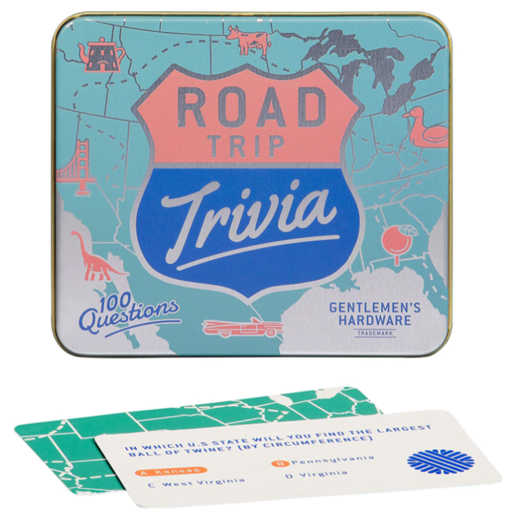Road Trip Trivia 100 Questions Game Tin