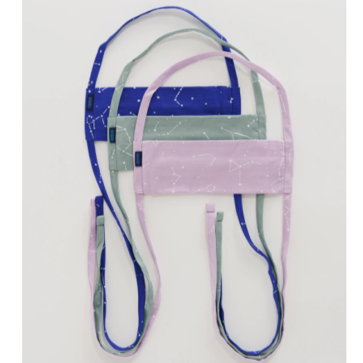 Face Mask from Baggu Tie Back - Constellations Blue, Green, Purple