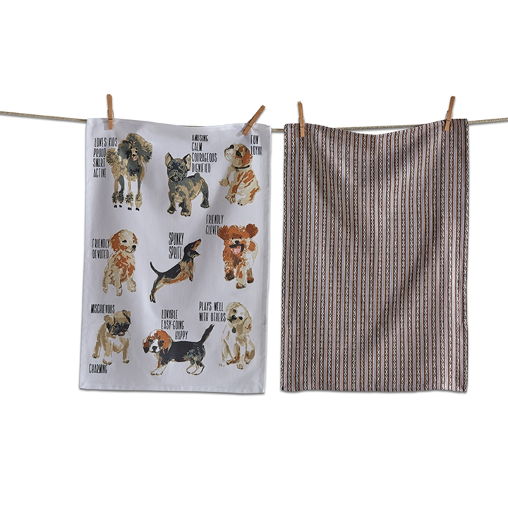 Set of 2 Dog Tea Towels