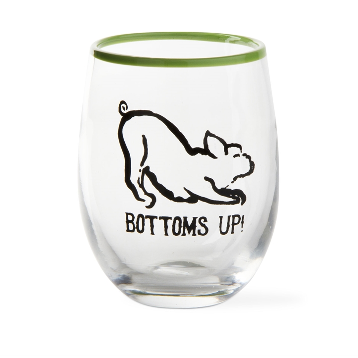 Bottoms Up Stemless Wine