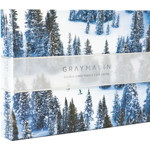 Gray Malin Winter Wonderland Forrest Double Sided Puzzle