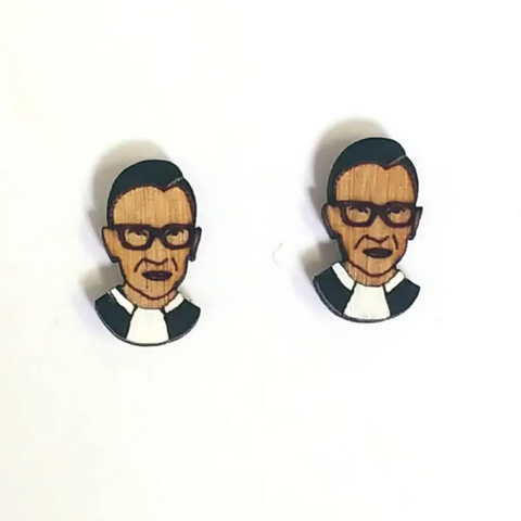 RBG Wood Post Earrings