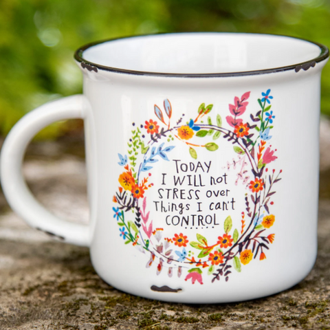 Today I Will Not Stress Over Things I Can't Control - Mug