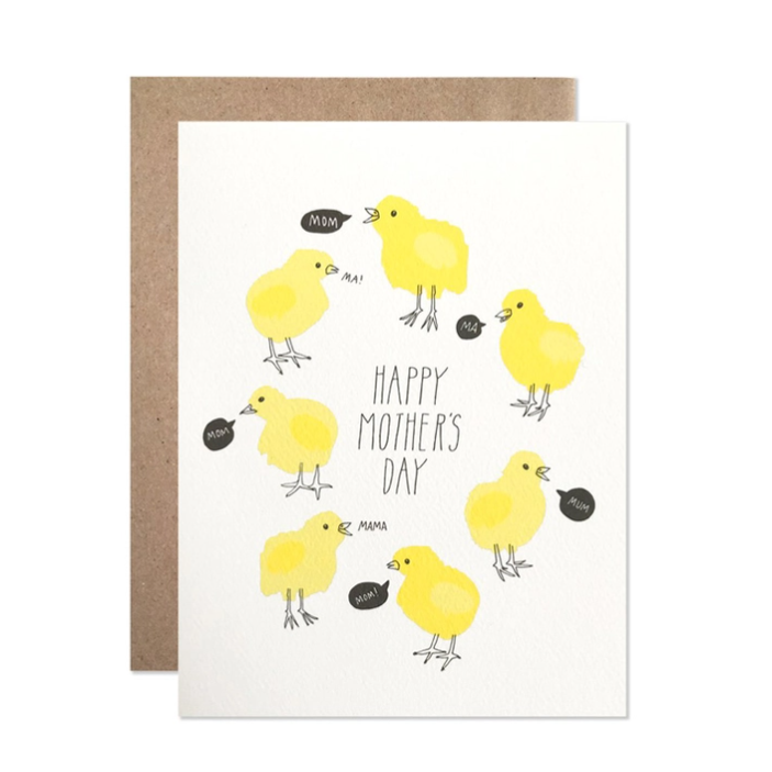 Happy Mothers Day Baby Chicks Card