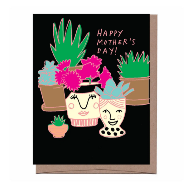 Happy Mothers Day Potted Plants Card - Mother