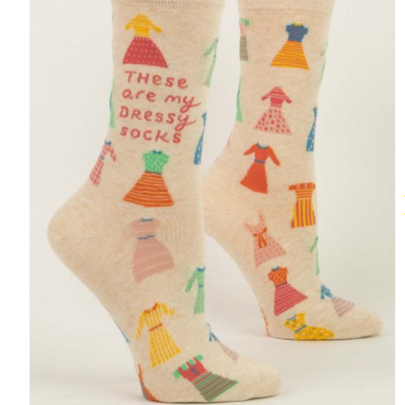 Womens Crew Socks - These Are My Dressy Socks