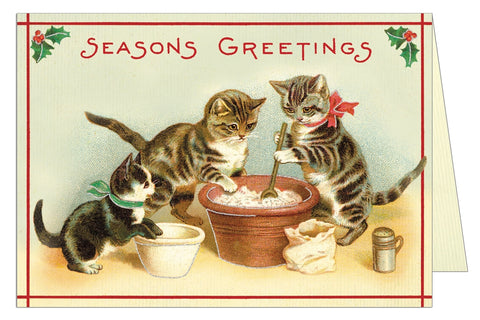seasons greetings cat card