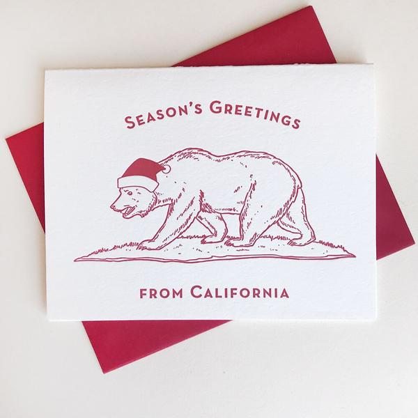 Seasons Greetings California Card - Steel Petal Press