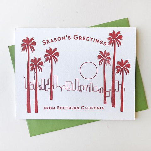 Seasons Greetings SoCal Card - Steel Petal Press