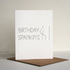 Funny Letterpress Birthday Card Birthday Spankin's