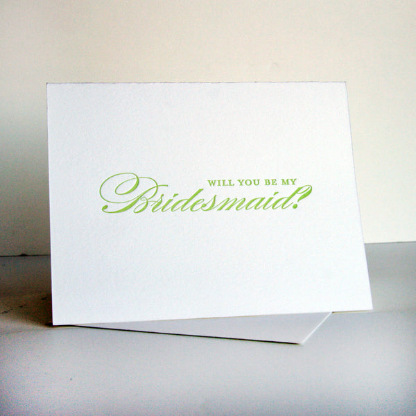 Spring Bridesmaid Card | Steel Petal Press