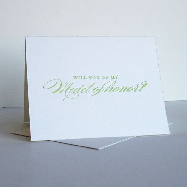 Spring Maid of Honor Card | Steel Petal Press