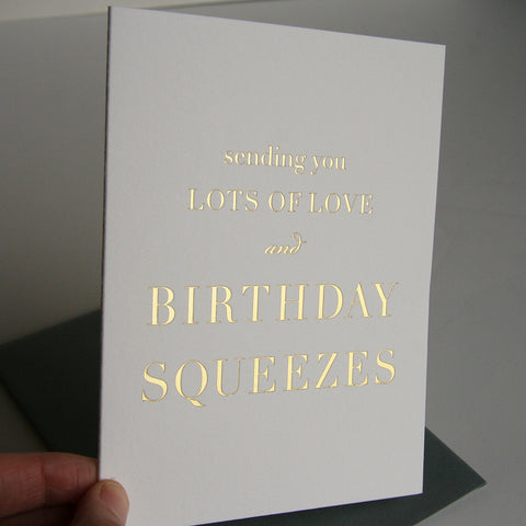 Birthday Squeezes - Steel Petal Press