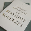 Gold Foil Birthday Card Birthday Squeezes