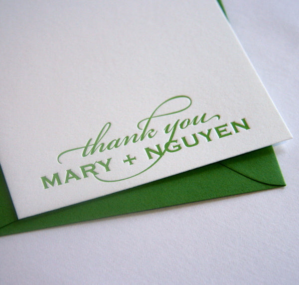 Classic Thank You (1 Color) | Steel Petal Press