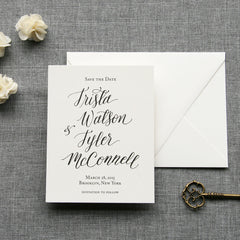 Fennel Calligraphy Save the Date