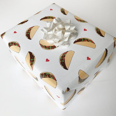Taco Gift Wrap - Steel Petal Press