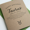 Taurus Astrology Birthday Card