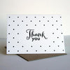 Letterpress thank you card- Thanks Dots