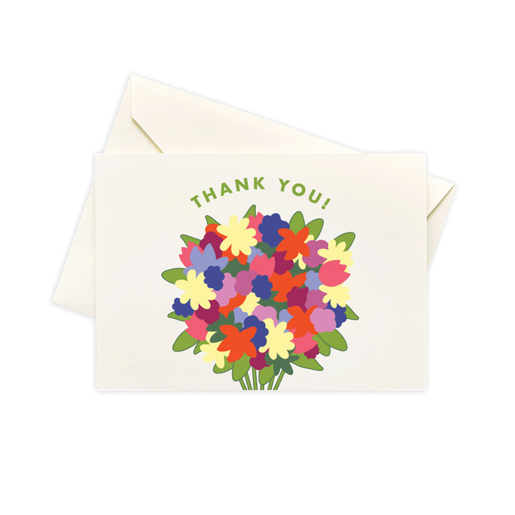 Thank You Bunch Set Of 10 Stationery Note Cards Box Set - Steel Petal Press