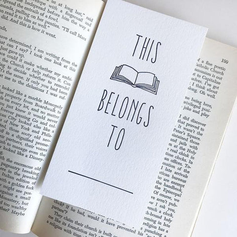 This Book Belongs To Funny Bookmark
