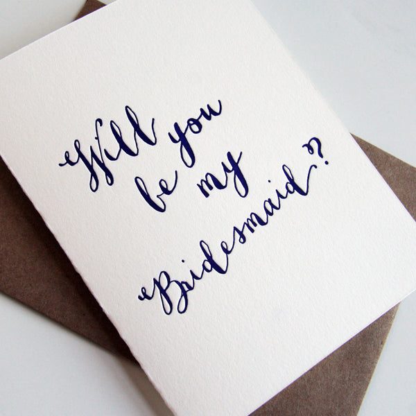 Violet Bridesmaid Card | Steel Petal Press