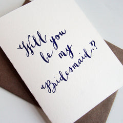 Violet Bridesmaid Card
