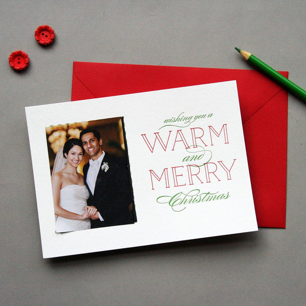 Merry Letterpress Photo Card | Steel Petal Press