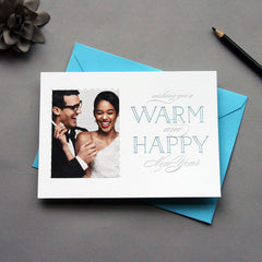 Warm Happy Letterpress Photo Card