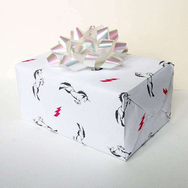 Unicorn Gift Wrap | Steel Petal Press