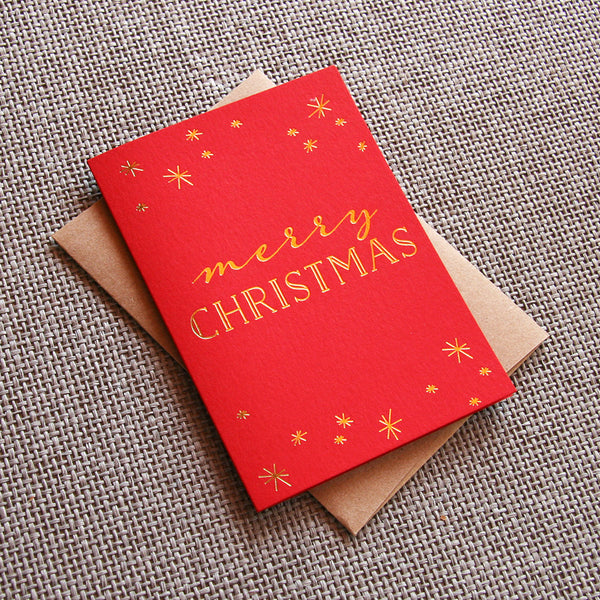 Xmas Sparkle Christmas Card | Steel Petal Press