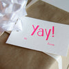 Yay! Letterpress gift tags