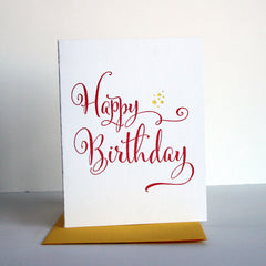 Yellow Star Birthday Card
