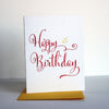 Yellow Star Birthday Letterpress Birthday Card