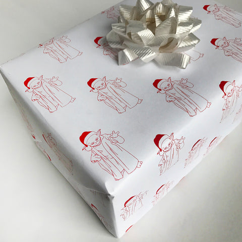 Christmas It Is Gift Wrap - Steel Petal Press