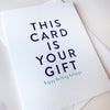 Letterpress Christmas Holiday Gift Card