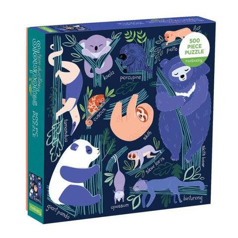 Tree Dwelling Animal Slowpokes 500 Piece Kids Puzzle - Steel Petal Press