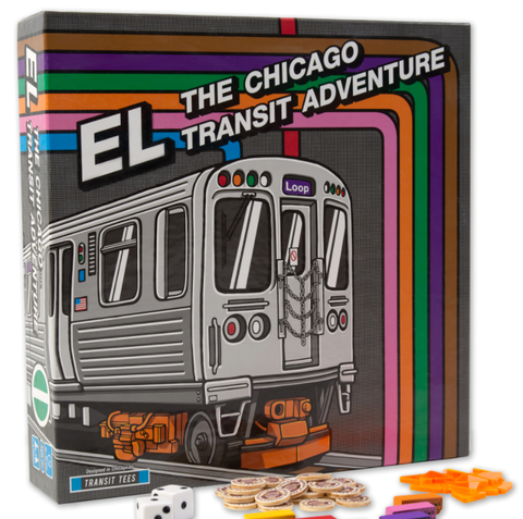EL Chicago Transit Adventure Game by Transit Tees