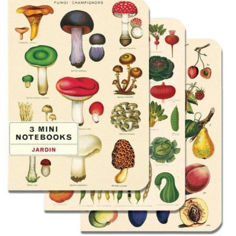 Le Jardin Fungi Champignons Set of 3 Mini Notebooks - CPC