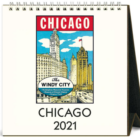 2021 Desk Calendar Windy City Chicago