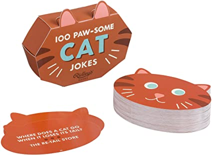 100 Paw-Some Cat Joke Cards - Steel Petal Press