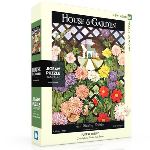 House And Garden Floral 1000 Piece Puzzle