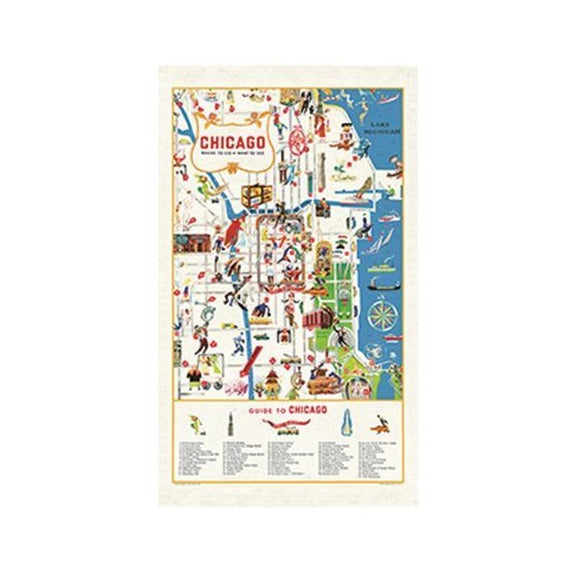 Chicago Vintage Tea Towel - Steel Petal Press