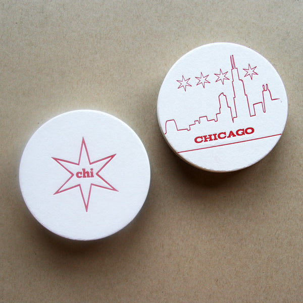 Chicago Coasters | Steel Petal Press