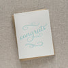 Mint letterpress congratulations card