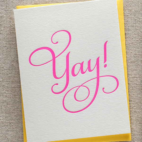 Yay Congrats Card | Steel Petal Press